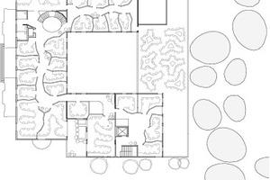 Grundriss Obergeschoss, M 1:1000