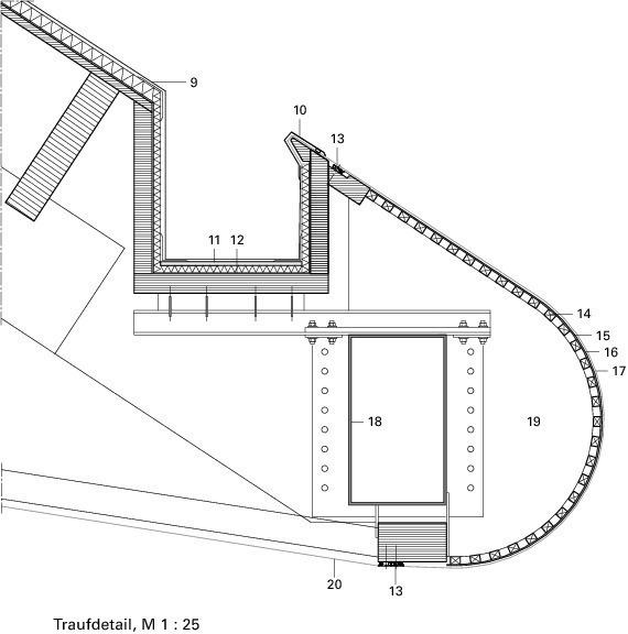 Traufdetail kein dachüberstand  Die perfekte Welle Eisschnelllaufhalle Inzell-Max Aicher Arena ...