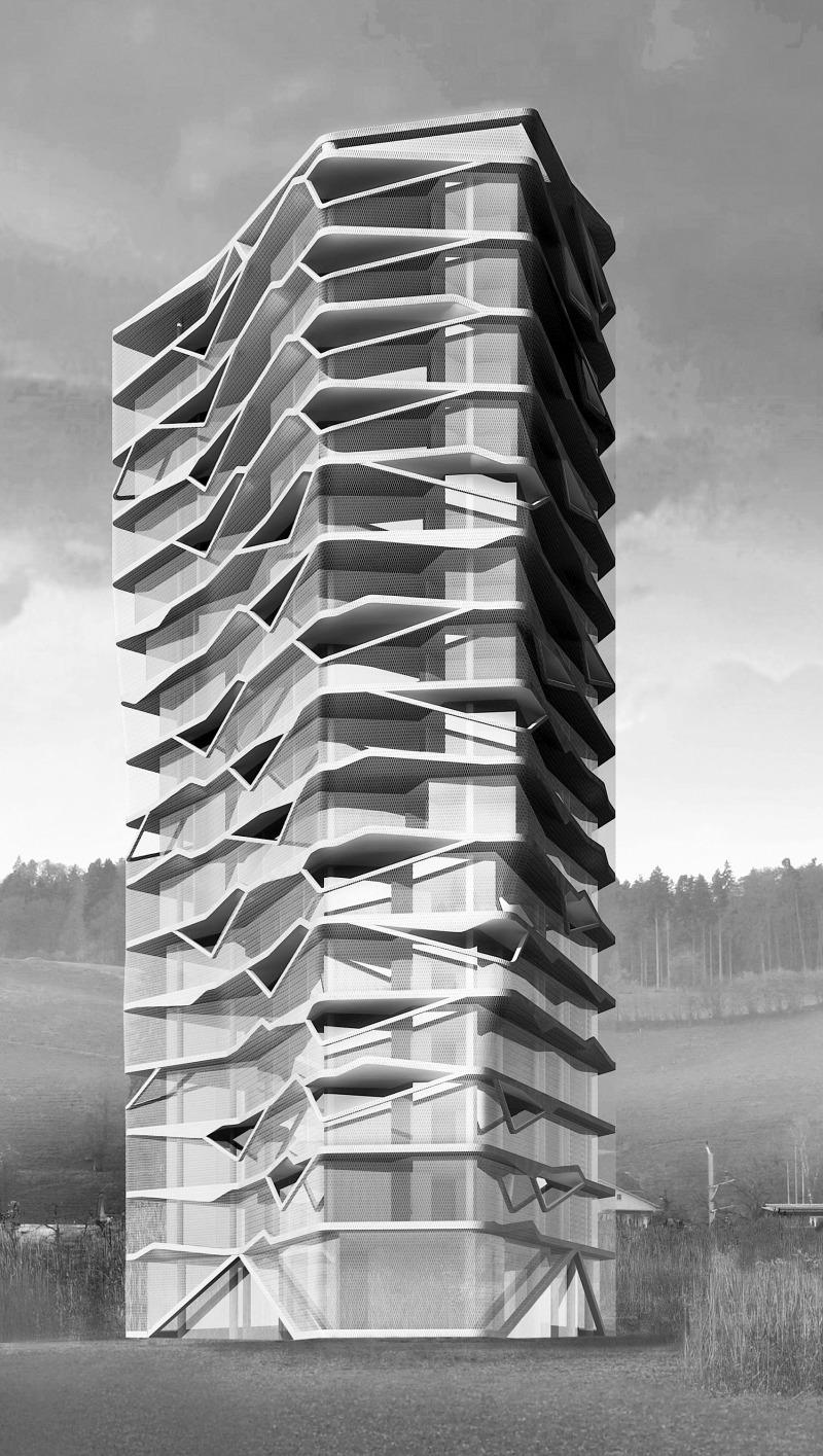 Eitelkeit Architekten Basel Beste Wahl Visualisierung Wohnturm Bächtelen, In Planung