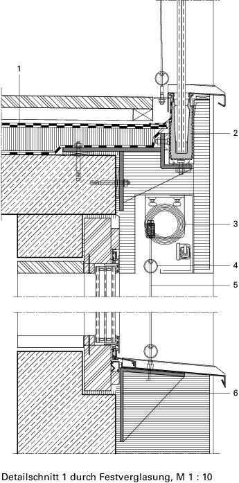 Kunststofffenster detail schnitt  Archaische KraftNeubau eines Zwei- familienhauses in Ennetbaden/CH ...
