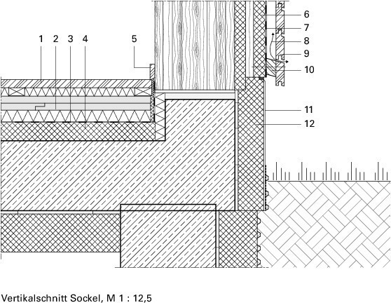 Holzbau detail sockel for Holzrahmenbau details