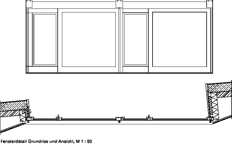 Fenster detail grundriss  GefaltetHochschule Luzern/CH - Deutsche BauZeitschrift