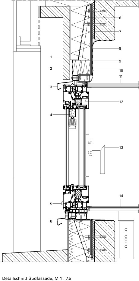 Kunststofffenster detail schnitt  Sensible MetamorphoseHaus des Handwerks, Frankfurt a. M ...