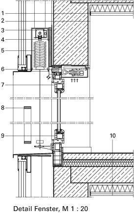 Kunststofffenster detail schnitt  Heiße Luft…Punkthaus, Mannheim - Deutsche BauZeitschrift