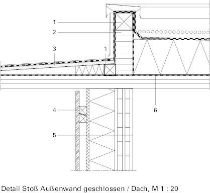 attika detail flachdach dwg gel nder f r au en. Black Bedroom Furniture Sets. Home Design Ideas