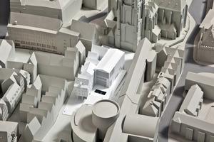 Im Planungsmodell der Stadt ist das Technische Rathaus bereits Geschichte<br />