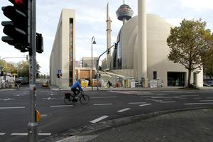 Die Ditib-Zentralmoschee in Köln wird gebaut (hier der Bau im Jahr 2014)