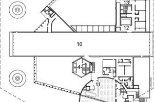 1. Obergeschoss, M 1:1500<br />