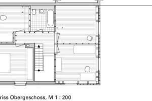 Grundriss Obergeschoss, M 1:200<br />
