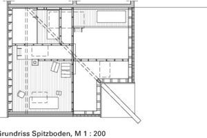 Grundriss Spitzboden, M 1:200<br />