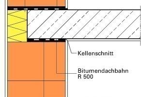 Abb. 2: Ausführungsvarianten eines Außenwand-Decken-Knotens in monolithischem Ziegelmauerwerk; links Deckenstirndämmung, rechts Deckenrandziegel mit zusätzlicher Wärmedämmung<br />