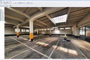 3D-Gebäudemodelle sind die ideale Basis für Modernisierungs- und<br />Sanierungsarbeiten wie hier im Fall einer Industriehalle