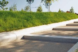 Sonderanfertigung: Die Steine der Rasenfassung wurden eigens für die Grüne Fuge hergestellt