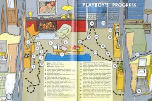 Die Handlungsanweisung zur erfolgreichen Verführung in 24 Schritten. Playboy's progress, Maiausgabe Playboy 1954