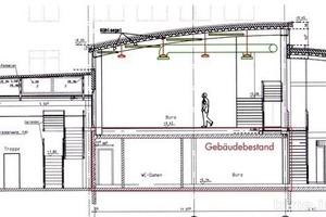 Abb.3: Schnitt durch das erweiterte Gebäude © Engelhardt & Bauer, Karlsruhe