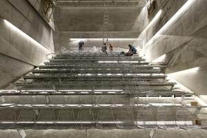 Blick in den Konzertsaal. Die 240 LED-Elemente wurden vom Lichtplaner so angelegt, dass sie einzeln steuerbar sind