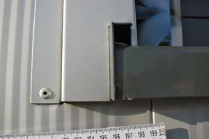 Bild6: Stoß zwischen Lisene und Fassadenpaneel im vorderen Laibungsbereich