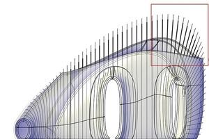 Um die Lamellen ökonomisch sinnvoll zu produzieren, entwickelte RPBW gemeinsam mit Arnold Walz von designtoproduction ein 3D-CAD-Modell