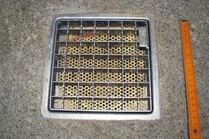 Bild 6: Bündiger Anschluss der Bodenbeschichtung an einen Ablauf