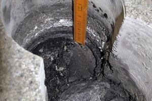 Bild 9: Bodenaufbau bei der Prüfstelle beim Bodenablauf