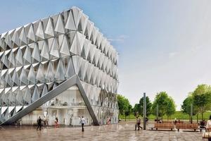 """Um künftig die 3D-Fassade technisch wie ökonomisch transparent, nachhaltig und multifunktional sowie prozesssicher auszubilden, setzt das """"Parametric System"""" auf eine integrierte """"intelligente Elemente""""-Bibliothek als gemeinsame, prozessübergreifende Datenbasis"""