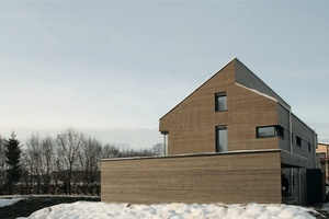 Energieplusgebäude, Leutkirch, Ansicht von Osten