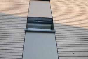 Auch an der Westfassade sind nur wenige Fenster