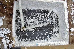 Bild4: Dachkonstruktion mit Kunststoffbahn, Dämmung und Dampfsperre