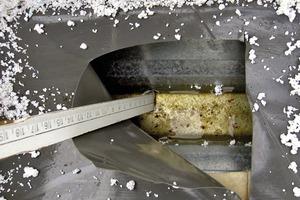 Bild5: Wasser beim Untergurt eines Trapezprofils