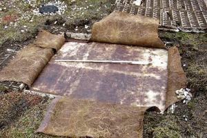 Bild3: Kleinflächige Freilegung der Dachabdichtung