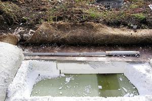 Bild6: Wasser auf der Dampfsperre