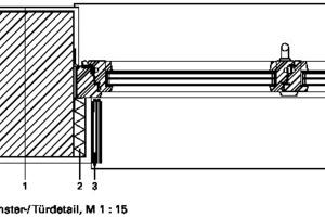 Fensterdetail, M 1:15