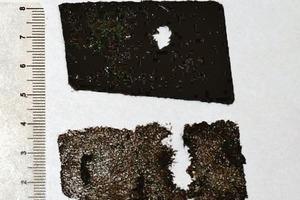 Bild10: Durchdringung von Bitumen und Trägereinlage
