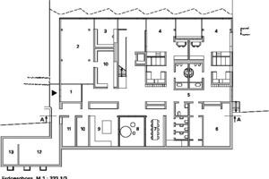 Grundriss Untergeschoss, M 1:333 <sup>1</sup>/3
