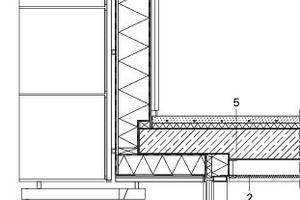 Fassadenschnitt Westfassade, M 1:50<br />