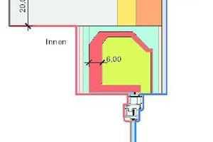 Bild11: Modell für die Wärmebrückenberechnung