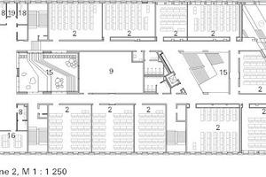 Grundriss 2. Obergeschoss, M 1:1250