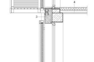 Fassadenschnitt, M 1: 50