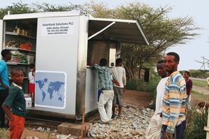 Der erste Solarkiosk in Äthiopien<br />
