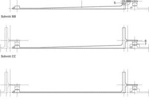 Detailschnitte Standard-Lamelle, M 1:15