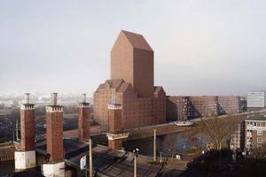 Der umstrittende Entwurf eines neuen Landesarchivs NRW am Duisburger Hafen