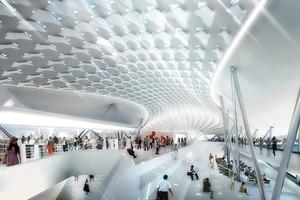 Wettbewerb Hafen-Terminal und zwei Hochhäuser in Kaohsiung;  2010 ; Architekten: Asymptote Architecture, NY<br />