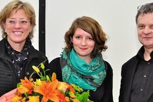 Koller-Preis 2011 – Preisträgerin Katharina Cielobatzki (Mitte) mit Stadtbaurätin Monika Thomas und Jury-Vorsitzenden Professor Walter Nägeli
