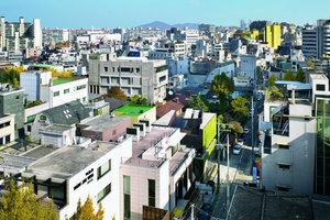 Das ehemalige Wohnviertel Gangnam-gu entwickelt sich zur Zeit zu einem gehobenen Geschäftsbezirk mit Shops und Restaurants. Das Gebäude soll kein bloßes Objekt, sondern einen synthetischer Organismus aus Natur und Kunst sein
