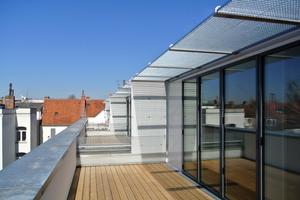Dachterrasse im Dachaubau der Maisonette