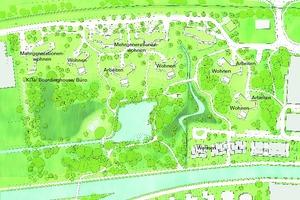 Abb. 1: Spinnereipark Kolbermoor: Lageplan mit Nutzungsmix