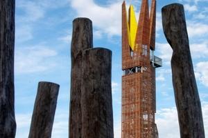 Landmarke und Aussichtsturm bei den Weilbacher Kiesgruben, Flörsheim-Weilbach / Peter Karle • Architekt