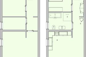 Dieses Beispiel zeigt, dass auch die Umgestaltung bestehender Wohnungen im Mehrfamilienhausbereich bei richtiger Analyse nutzergerecht und kostengünstig erfolgen kann