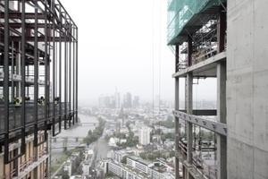 Blick zurück auf FFM Downtown