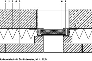 Horizontalschnitt Fenster, M 1:12,5